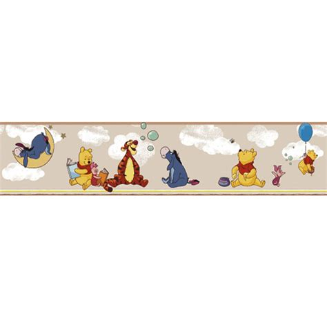 disney wallpaper pooh goodnight vintage blue disney deco wallpaper border 3501 3 self adhesive winnie