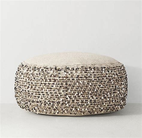 light tan moroccan pouf moroccan sequin beige pouf