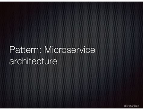 pattern language failure a pattern language for microservices futurestack