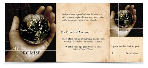 Faith Promise Card Template by Designs Help My Missions Conference