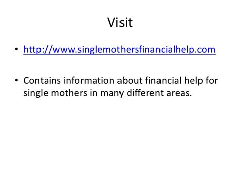 section 8 housing for single mothers financial help for single mothers