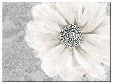 Artwork For Dining Room grey bloom canvas wall art contemporary artwork by