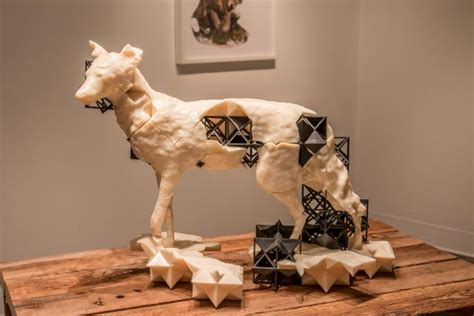 smart art  jeff cain  art project entitled canis latrans
