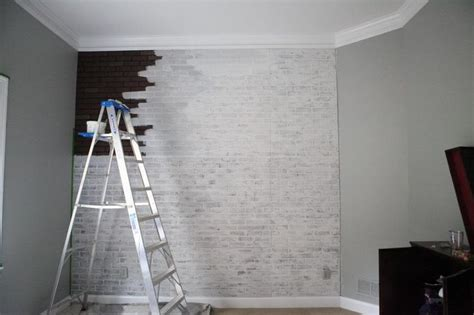 painted faux brick wall painting faux brick