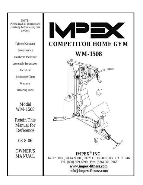 impex wm 1508 user manual 22 pages