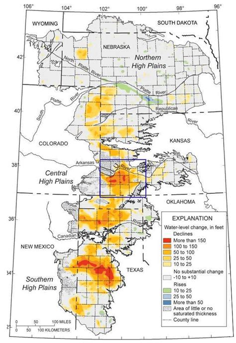 texas high plains map kgs ofr 2014 2 practical saturated thickness in the ogallala high plains aquifer