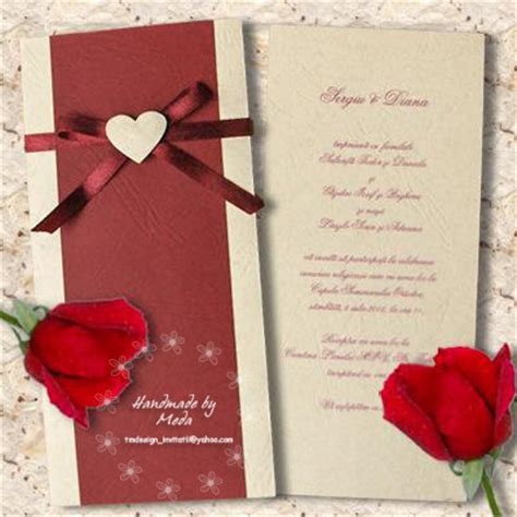 Wedding Invitation Models by Wedding Invitation With Butterflies Invitatie De Nunta Cu