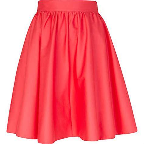 pink high waisted skater skirt skater skirts