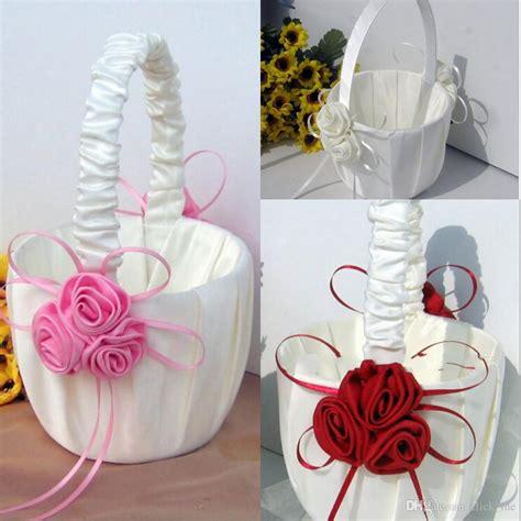 2019 flower baskets for wedding favors basket bridesmaid petal basket wedding accessories