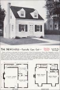small cape cod house plans 1940 newcastle mid century cape cod kit houses