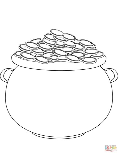 pot of gold coloring page s day pot of gold coloring page free