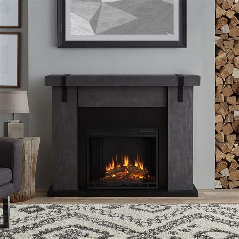 gray fireplace home decorators collection avondale grove 59 in tv stand