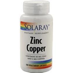 supplement zinc and copper solaray zinc copper on sale at allstarhealth