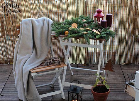 Weihnachtsdeko Aus Dem Garten by Weihnachtsdeko Auf Dem Balkon Garten Fr 228 Ulein