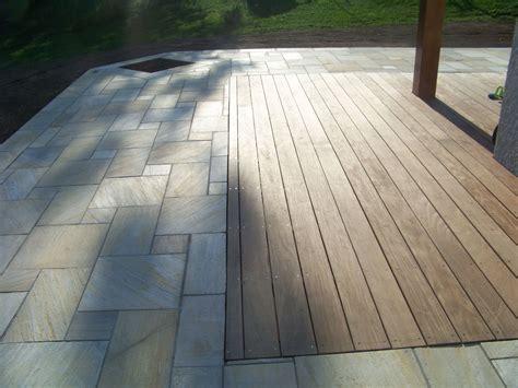 terrasse quartzite terrasse en pierres naturelles quartzites et bois ip 233
