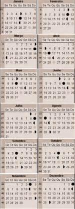 Calendario Lunar Outubro 2017 Fases Da Lua Ca 231 A E Pesca Calend 225 De Esperas Javali