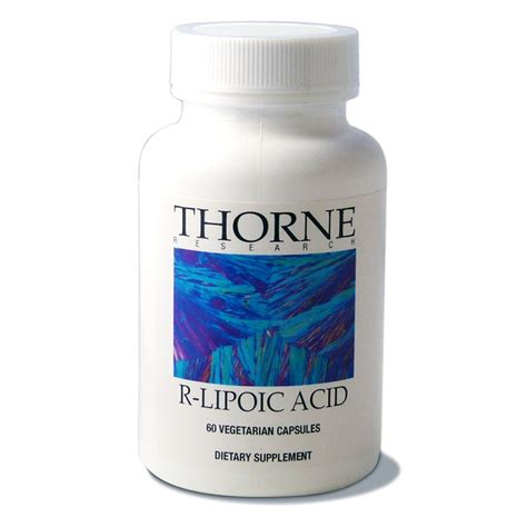 Alpha Lipoic Acid And Liver Detox by R Lipoic Acid 60 Capsules Thorne