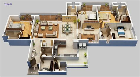 4 bhk home plan   House design plans