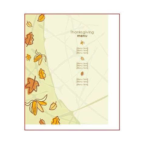 microsoft office menu templates great thanksgiving day menu templates to entice and