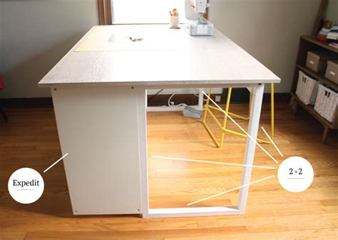 Diy Sewing Table by Custom Diy Sewing Cutting Table Noodlehead
