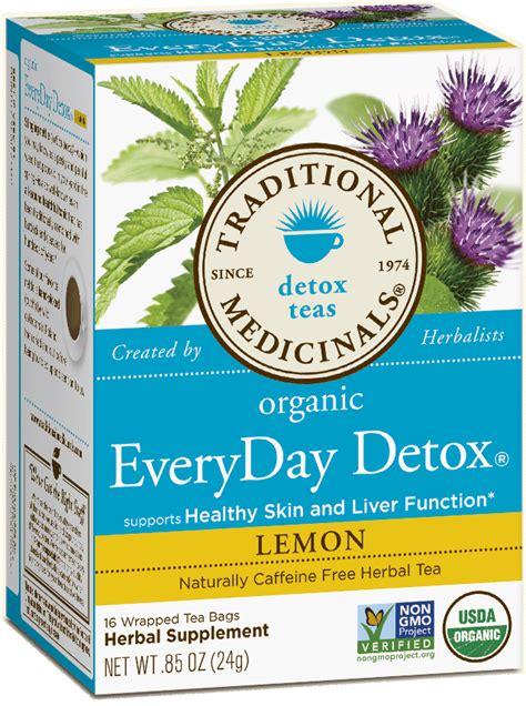 Traditional Medicinals Detox Tea Lemon by Everyday Detox 174 Lemon Traditional Medicinals