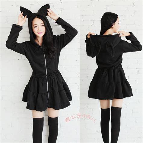 Dress Fit To L Length 77cm Material Kaos 4 japanese kawaii rabbit ear fleece dress 183 asian kawaii clothing 183 store powered by