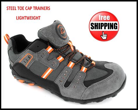 lightweight safety boots for mens new lightweight safety steel toe cap work trainers