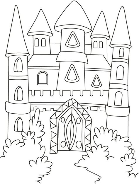 coloring page of a princess castle princess castle coloring page coloring home