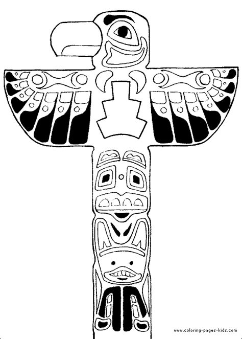 Totem Pole Coloring Pages Totem Poles On Pinterest Totems Cardboard Tubes And by Totem Pole Coloring Pages