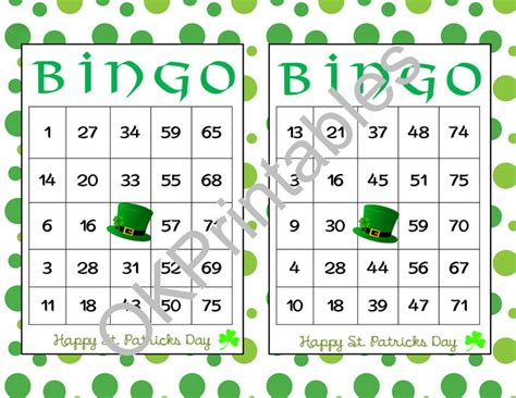 St S Day Bingo Printable