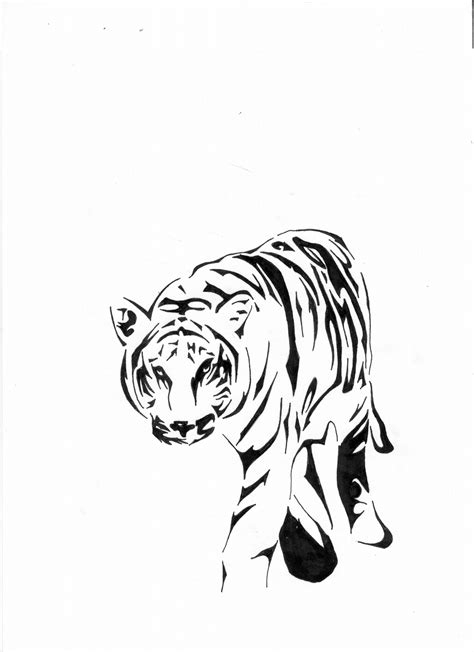 tiger with tribal tattoo the gallery for gt tribal tiger designs