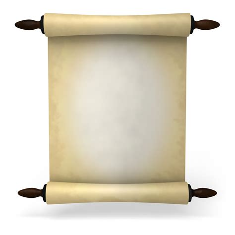 How To Make Scroll Paper - ancient scroll paper clipart best