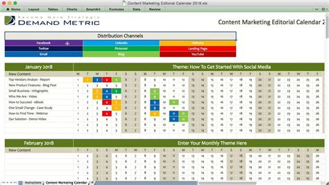 Marketing Calendars Editorial Calendar For Content Marketing Software By Marketingai I Have Social Content Calendar Template 2018
