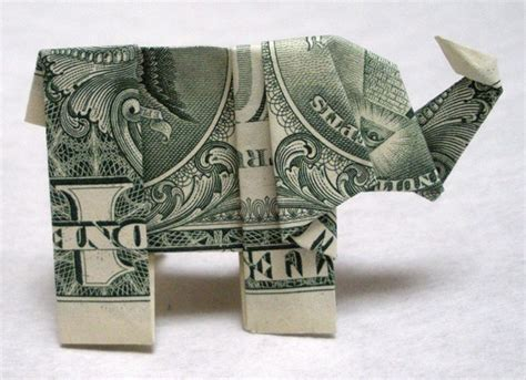 Dollar Bill Elephant Origami - items similar to dollar bill origami elephant on etsy