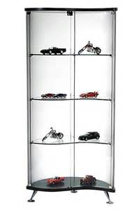 Keepsakes Corner Curio Cabinet Celeste Modern Glass Curio Cabinet For Contemporary Homes