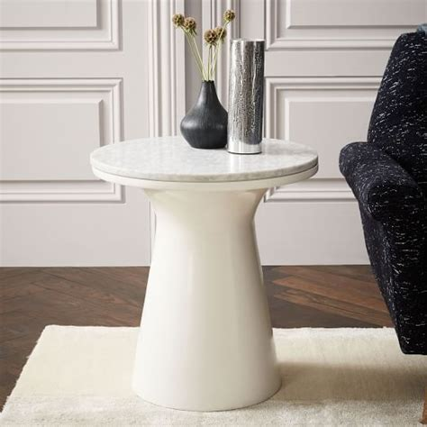 marble pedestal side table marble topped pedestal side table white marble white
