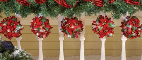 poinsettia string lights solar poinsettia topiary string light set