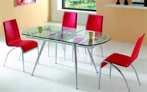 Table Chairs Design Ideas Modern Extendable Glass Dining Table Design Chairs Rugdots