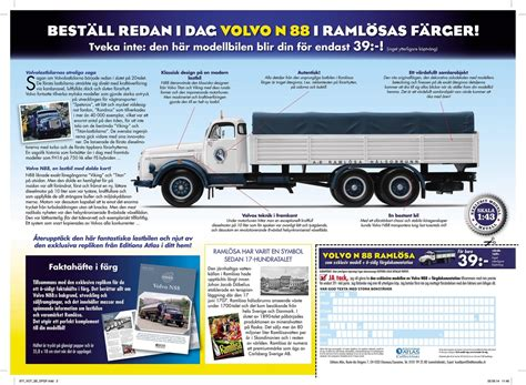 used volvo trucks in sweden volvo truck collection launched by editions atlas as test