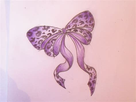 leopard print bow tattoo designs purple leopard print bow by cupcake lakai on deviantart