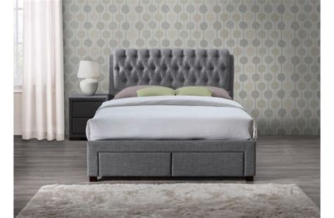 dresden 4 ft 6 drawer storage bed birlea valentino 4ft6 double grey fabric bed frame with 2