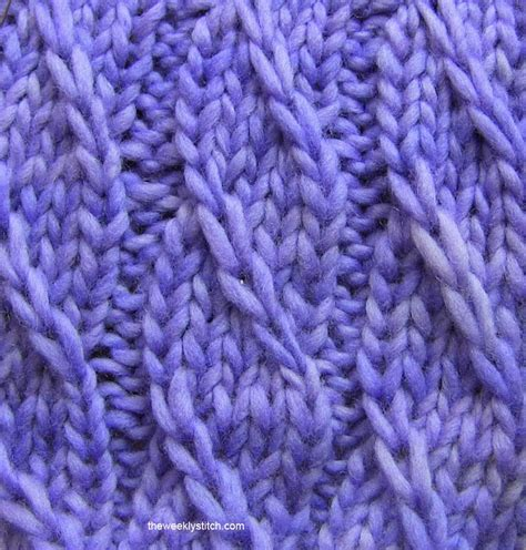 how to up stitches in knitting twilled stripe stitch the weekly stitch