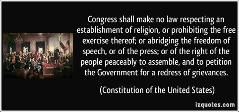 the establishment and how congress shall make no law respecting an establishment of religion or prohibiting the free