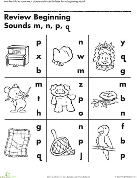 Letter Sound Worksheets For Pre K by Other Beginning Sounds And Worksheets On