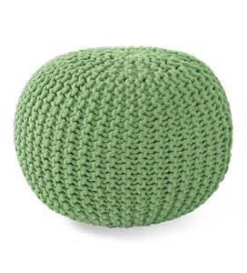 Ottoman Knitted Knitted Pouf Ottoman Gifts 75 100
