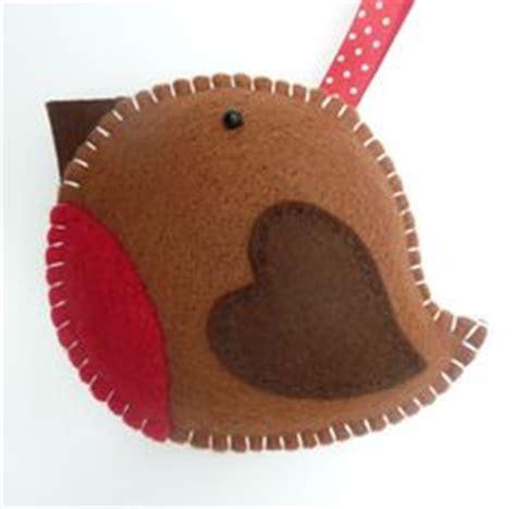 felt christmas ornament felt puffin ornament felt bird