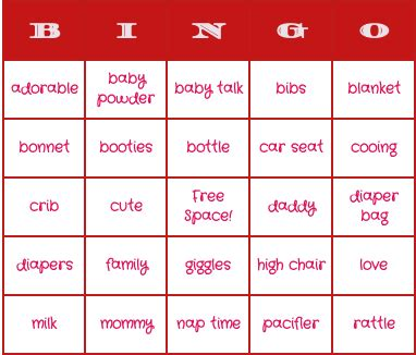 Baby Shower Bingo Card Generator by Free Blank Baby Bingo Cards Search Results Calendar 2015