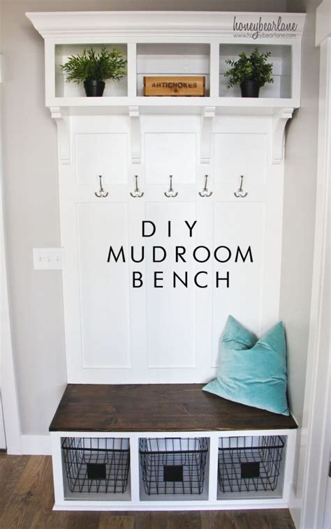 Mudroom Ideas Diy | diy mudroom bench part 2 honeybear lane