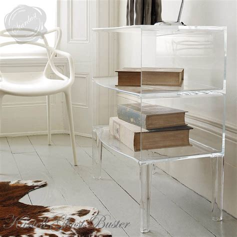 Modern Classic Bathroom Kartell Ghost Buster Side Table By Philippe Starck Stardust