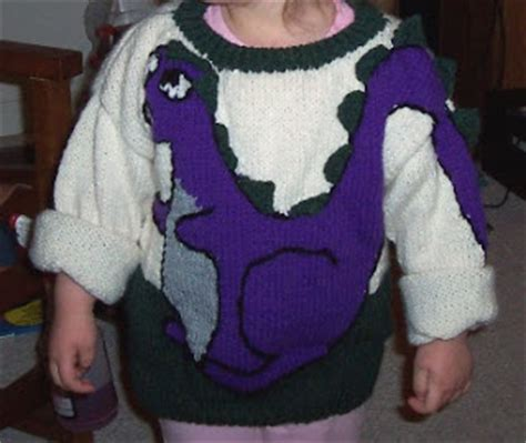 dinosaur sweater knitting pattern knitted dinosaur sweater patterns 1000 free patterns